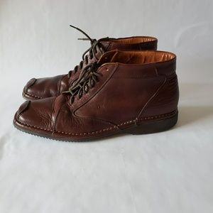 Boemos mens  Brown leather Ankle boots .